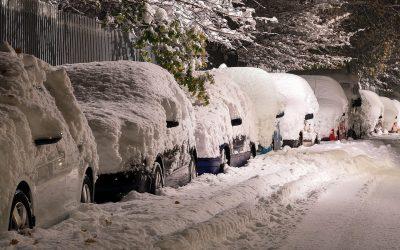 Śnieg na samochodach