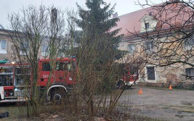 Pożar w Lubiążu