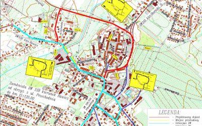mapa objazdów Wołów