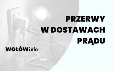Przerwa w dostawie prądu Wołów