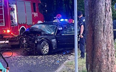 BMW Wypadek Wołów