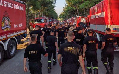 Polscy strażacy w Grecji