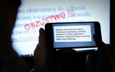 SMS o kwarantannie